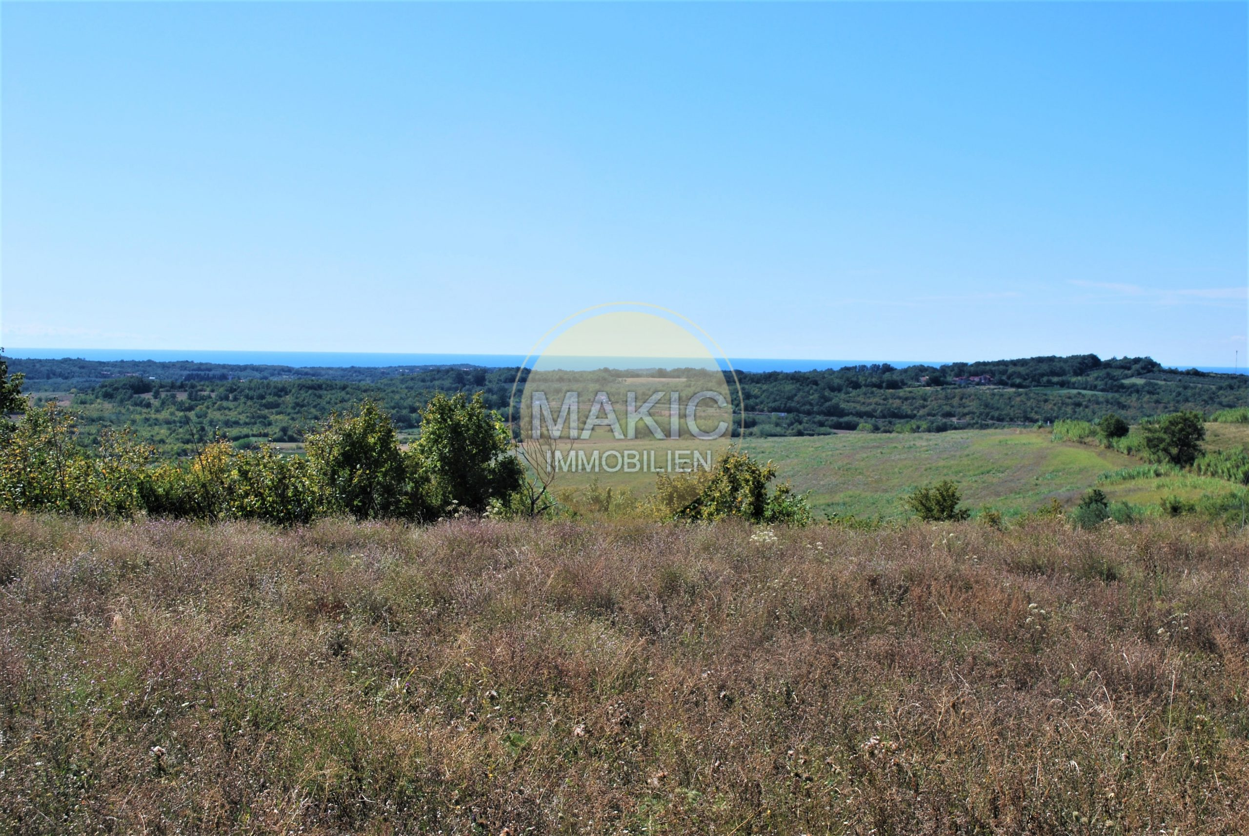 ISTRIA – Agricultural land with beautiful sea view!